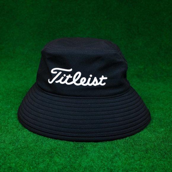 Titleist StaDry Black Bucket Hat with Red Under